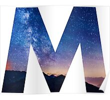The Letter M - night sky Poster