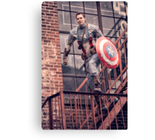 Michael Mulligan as Captain America (Photography by Sean William / Dragon Ink Photography) Canvas Print
