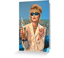 Joanna Lumley as Patsy Stone painting Greeting Card
