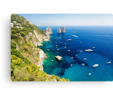 Rocks of Capri Canvas Print
