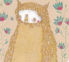 Golden three eyed owl Sticker