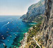 Capri Coastline by George Oze