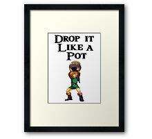 Drop it like a pot! Zelda Shirt Framed Print