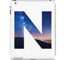 The Letter N - night sky iPad Case/Skin