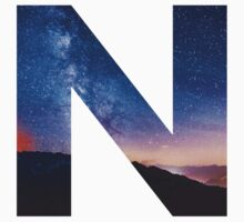 The Letter N - night sky by Scarabs-witness