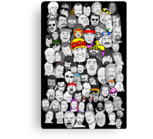 superstars of wrestling art collage Canvas Print
