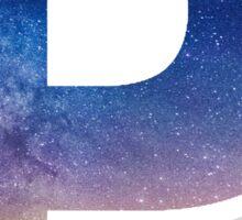The Letter P - night sk Sticker