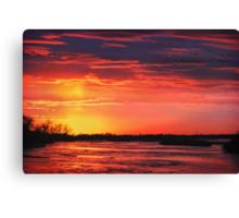 Platte River Sunset Canvas Print