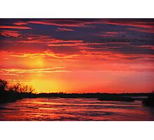 Platte River Sunset Photographic Print