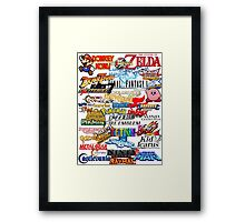 Retro Nintendo Titles  Framed Print