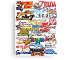 Retro Nintendo Titles  Metal Print