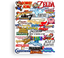 Retro Nintendo Titles  Canvas Print