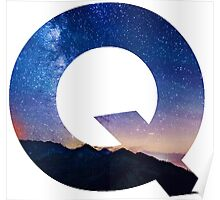 The Letter Q - night sky Poster
