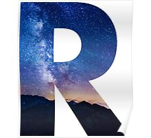 The Letter R - night sky Poster