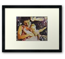 Baby In The Sun Framed Print