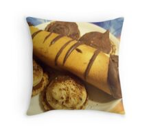 chocolate cigars and shortbread cookies Throw Pillow