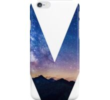The Letter V - night sky iPhone Case/Skin