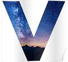 The Letter V - night sky Poster
