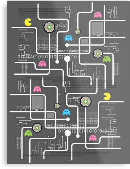 Return Of The Retro Video Games Circuit Board by fatfatin