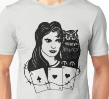 Woman with Owl Unisex T-Shirt