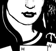 Woman with Owl Sticker