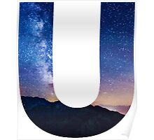 The Letter U - night sky Poster