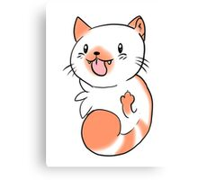 Flame Point Chibi Cat Canvas Print