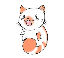 Flame Point Chibi Cat Photographic Print