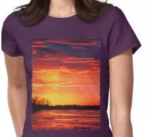 Platte River Sunset Womens Fitted T-Shirt