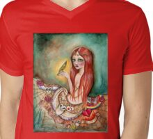 Skirt of sorrow T-shirt Mens V-Neck T-Shirt