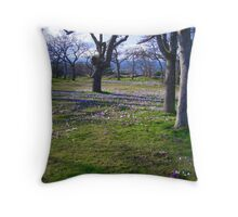 Field of Crocus Throw Pillow