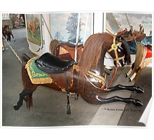 """Watch Hill Carousel Horse """"Chocolate"""" Poster"""