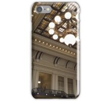Classic Architecture, Waiting Room, Historic Hoboken Terminal, Hoboken, New Jersey iPhone Case/Skin