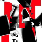 Joy Us Graphic with Red by cherie hanson