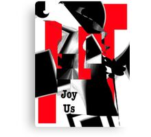 Joy Us Graphic with Red Canvas Print