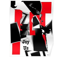 Joy Us Graphic with Red Poster