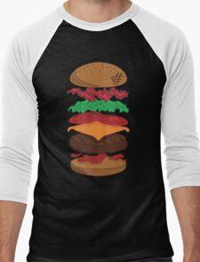 Hamburger Friday Stacked Men's Baseball ¾ T-Shirt