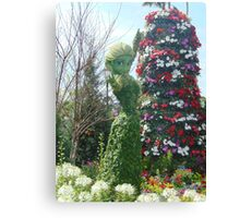 Elsa Topiary Flower and Garden Festival- Epcot Canvas Print