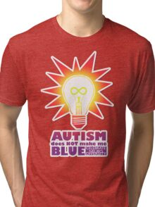 Rainbow Autism Doesn't Make Me Blue. Tri-blend T-Shirt