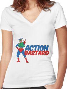 Action Bastard Women's Fitted V-Neck T-Shirt