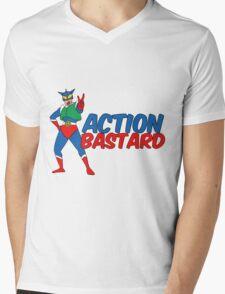 Action Bastard Mens V-Neck T-Shirt