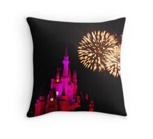 Wishes Fireworks 4- Magic Kingdom Throw Pillow