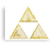 Triforce, LOZ Metal Print