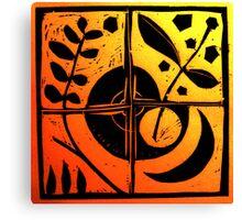 Coloured Equilibrium Canvas Print