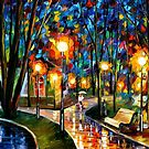 Park By The Lake — Buy Now Link - www.etsy.com/listing/127106024 by Leonid  Afremov