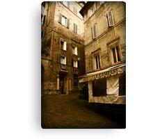 Siena streets Canvas Print