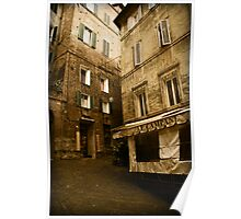 Siena streets Poster