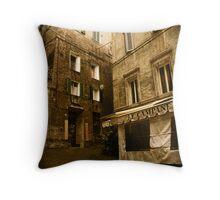 Siena streets Throw Pillow