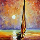 Gold Sail — Buy Now Link - www.etsy.com/listing/177658064 by Leonid  Afremov