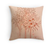 Scribbled Tree Throw Pillow